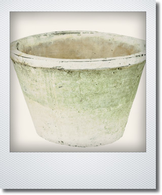 画像1: アンティークホワイトポット24cm