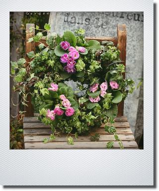 画像1: リース『バラ咲きジュリアン ブルーベリーのムース』*送料込み*