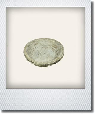 画像1: アンティークホワイトソーサー10cm