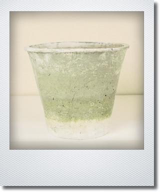 画像1: アンティークホワイトアザレアポット32cm