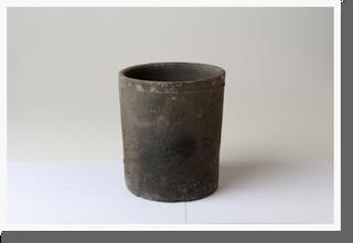画像1: ブラックトールシリンダーポット13cm