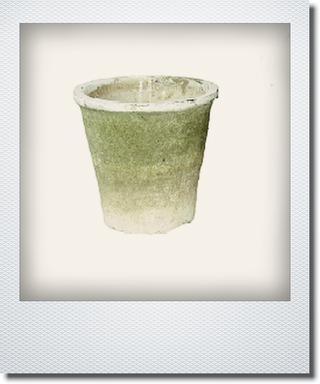 画像1: アンティークホワイトアザレアポット15cm【B級品のため】