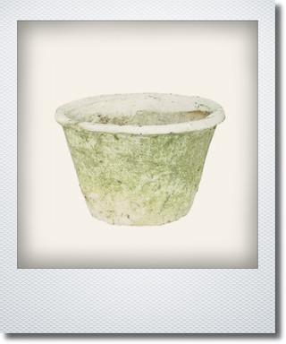 画像1: アンティークホワイトポット15cm