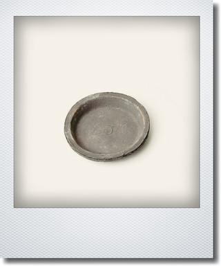 画像1: ブラックソーサー10cm