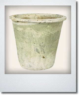 画像1: アンティークホワイトアザレアポット25cm