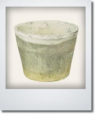 画像1: アンティークホワイトカクタスポット20cm